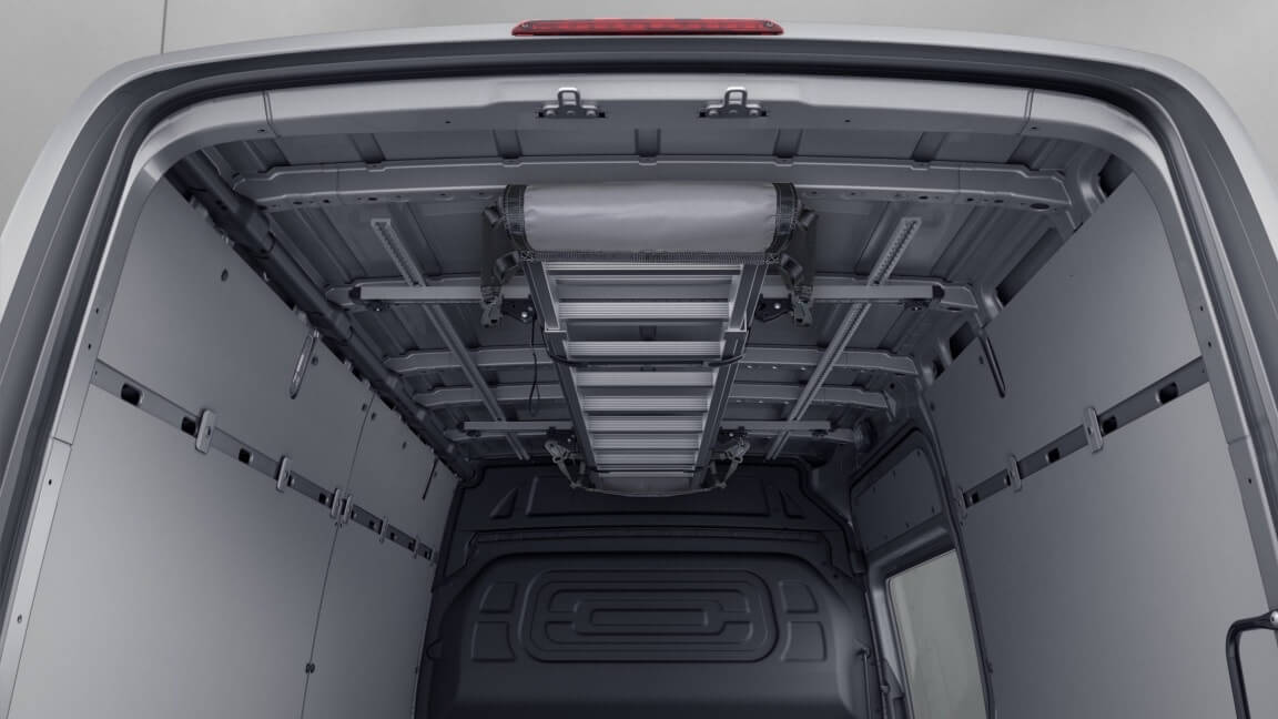 Interior roof luggage rack (optional)
