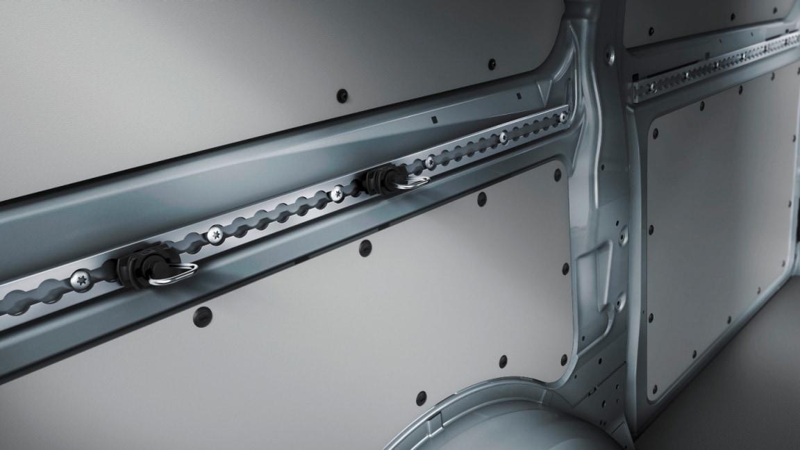 Sidewall tie-down rails (optional)