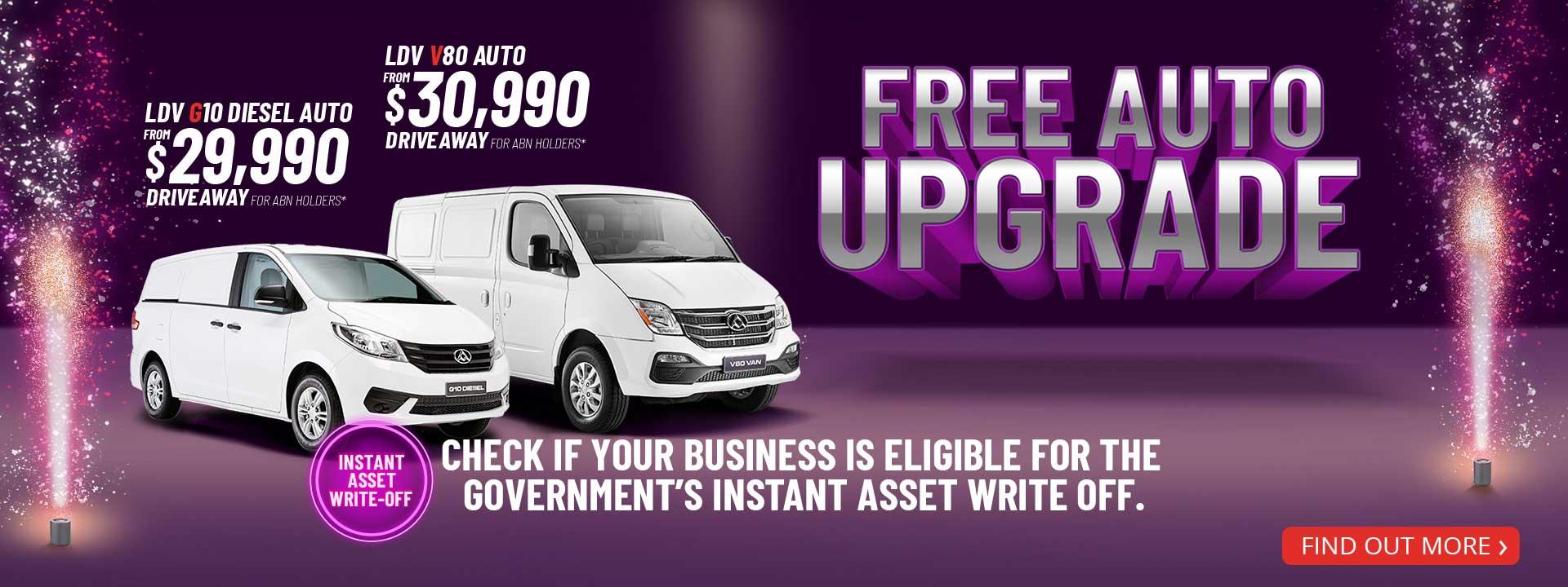 LDV - Free Auto Upgrade