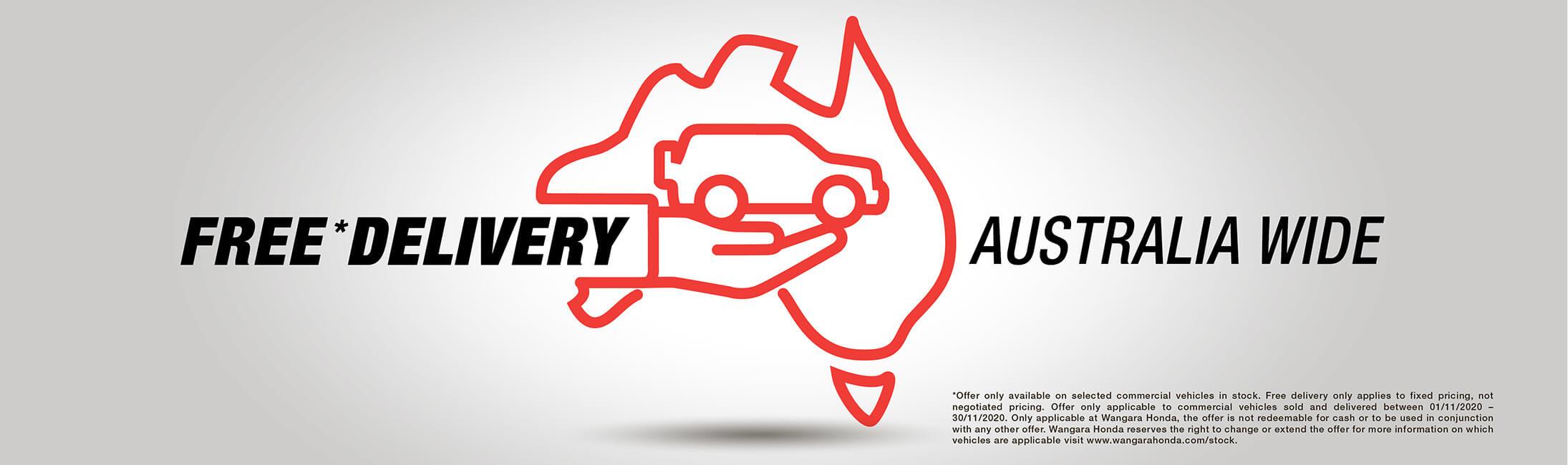 Wangara Honda Free Delivery Australia Wide