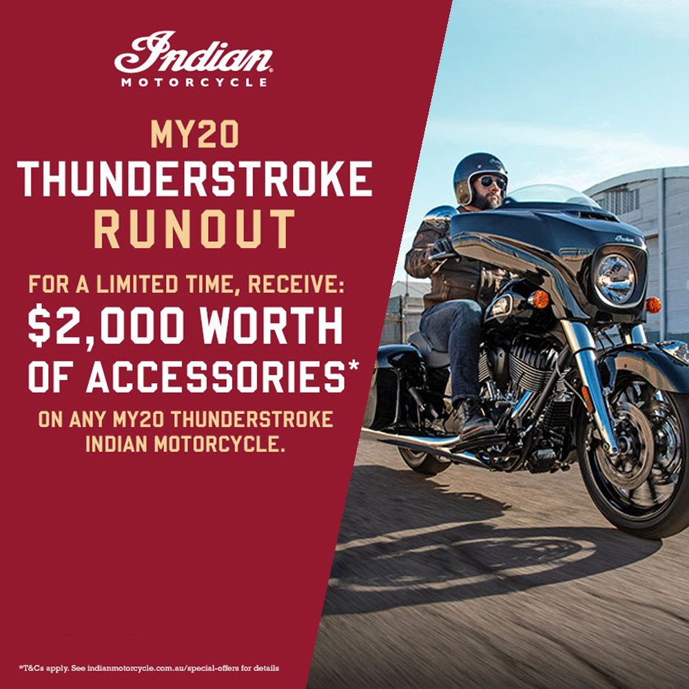 Indian MY20 THUNDERSTROKE RUNOUT