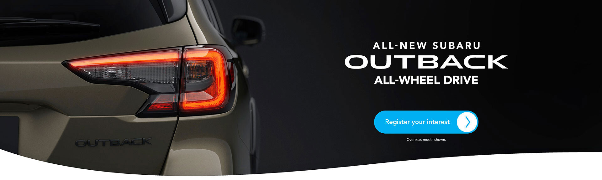 New Subaru Outback Register Your Interest