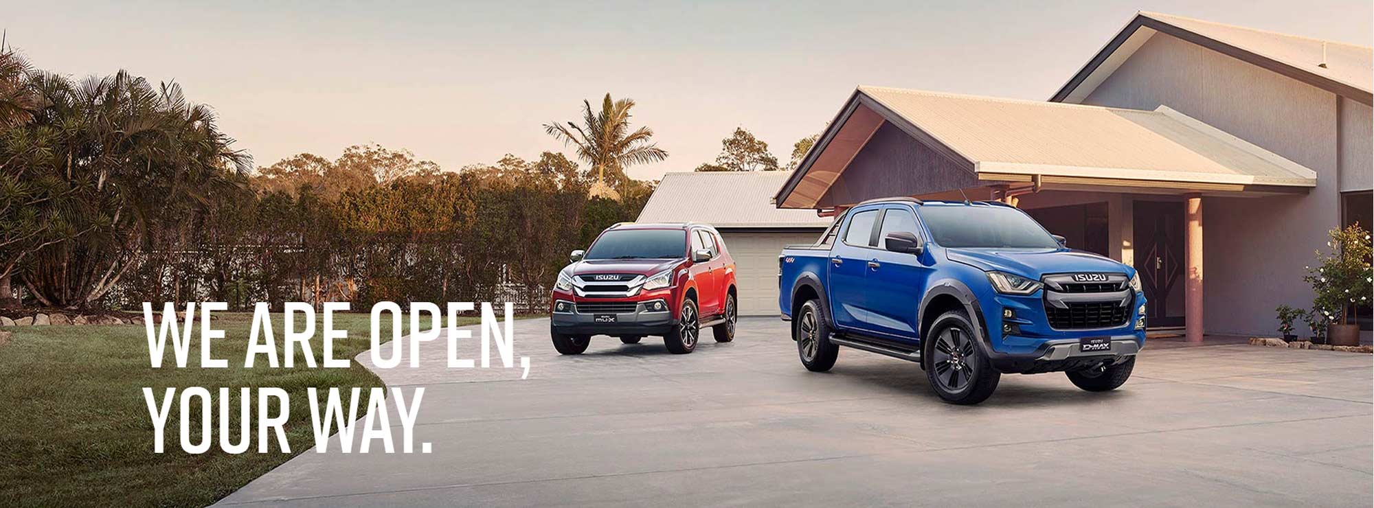 Wayne Phillips Isuzu UTE We Are Open