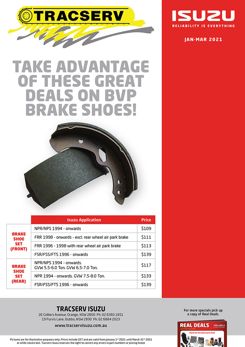 BVP Brake Shoes Promo Banner At Tracserv