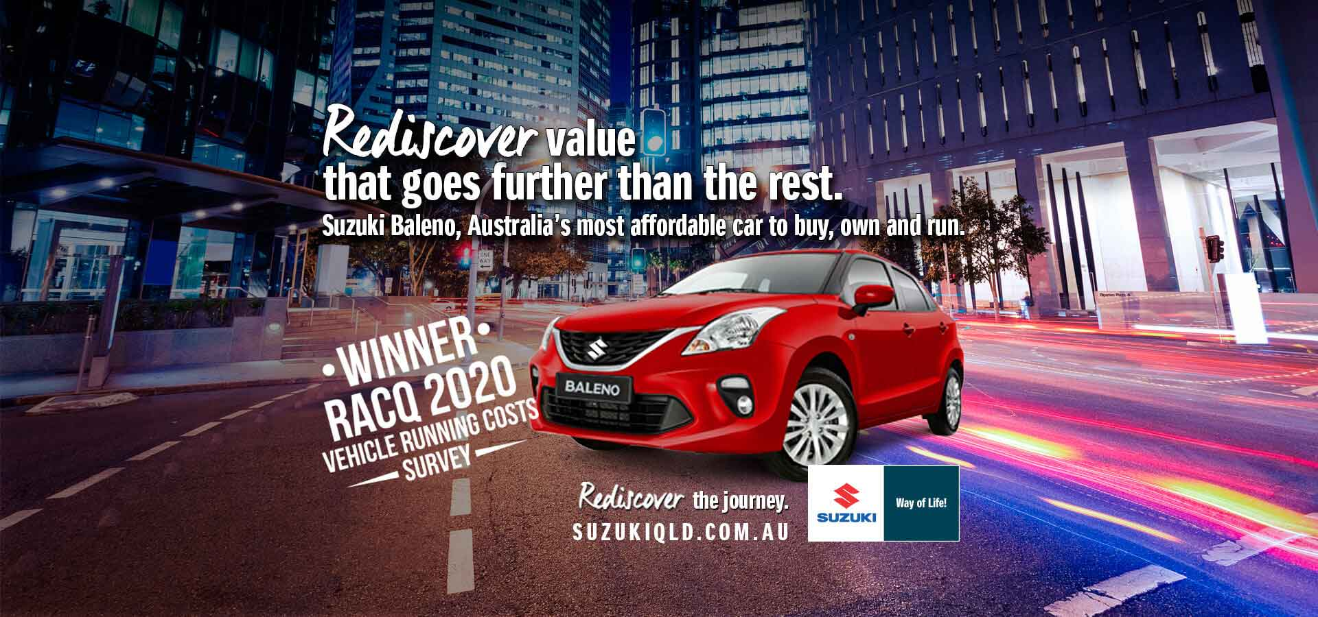 Suzuki QLD Rediscover Value Winner Baleno