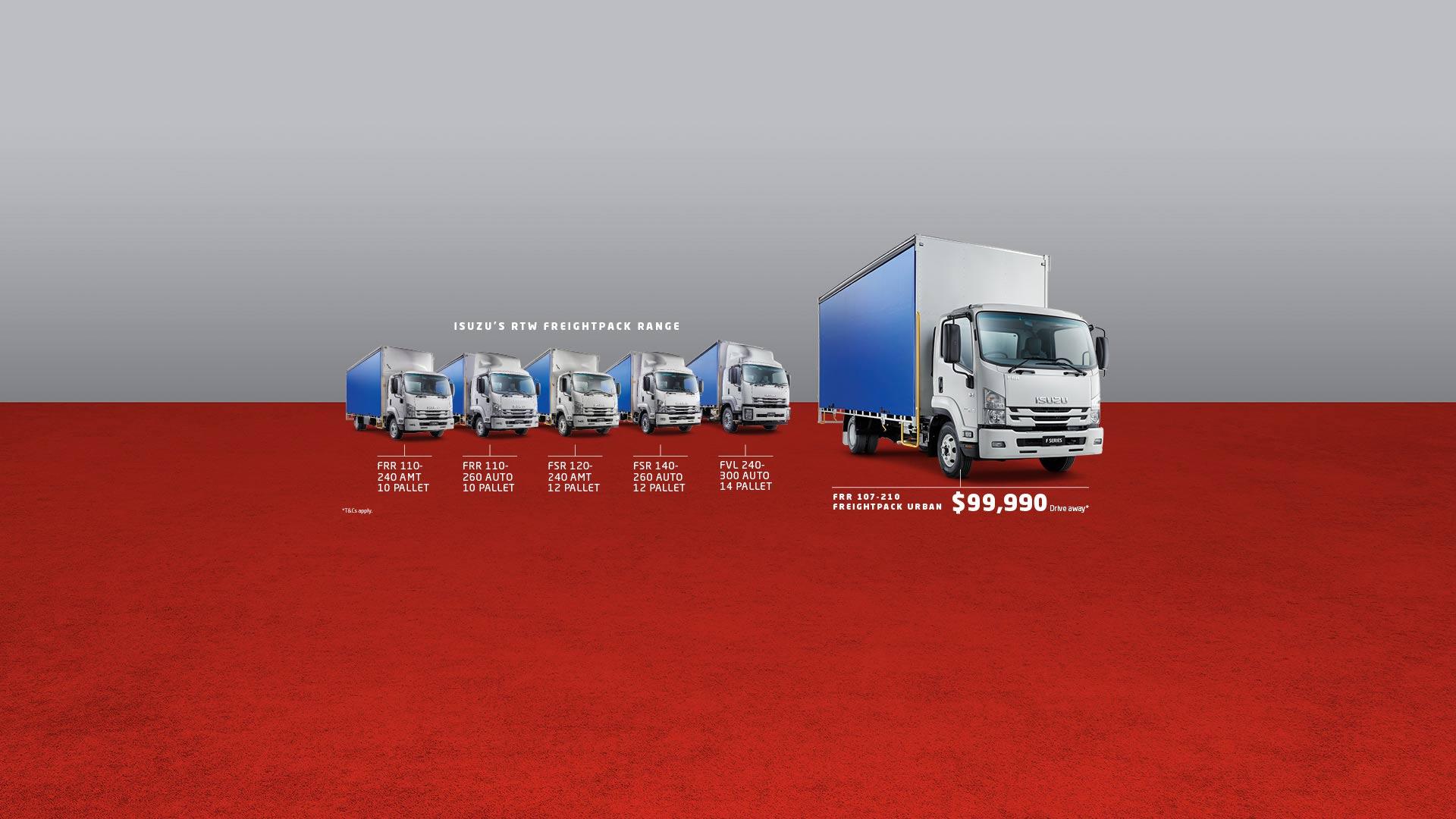 Isuzu RTW Freightpack Range