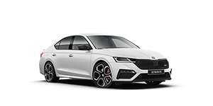 Skoda Octavia RS Moon White Metallic