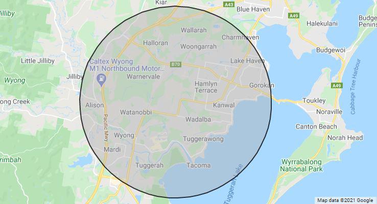CCMG Wyong Courtest Bus Radius