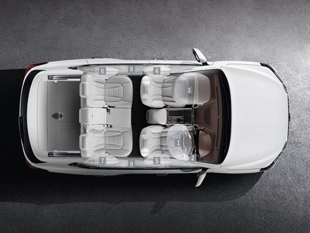 Rexton - 9 airbags