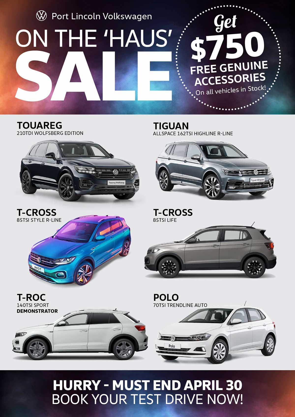 On Hous Sale - Port Lincoln Volkswagen| Eyre Car Centre