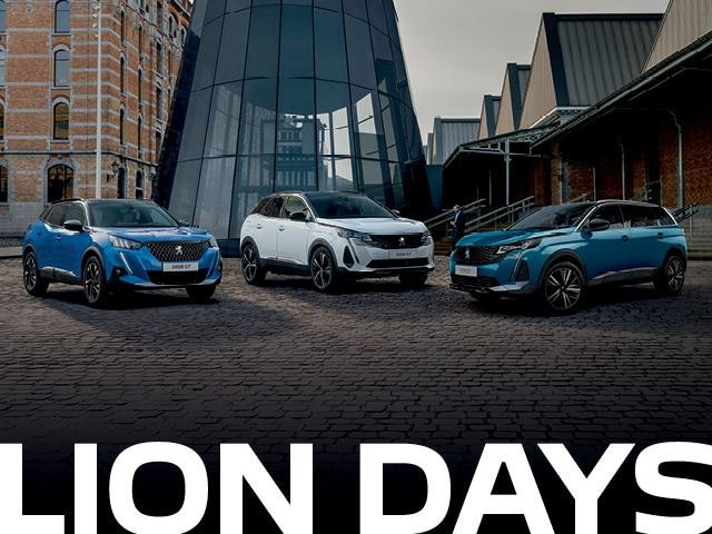 <h4>PEUGEOT Lion Days is now on.</H4> <H4>Visit us today to take advantage of these offers.</h4> <ul> <li>Factory bonus<sup>1</sup>+ Free Accessories Packs<sup>1</sup> available on selected in stock MY21 Peugeot Passenger Models.</li><br> <li>5-year Unlimited KM Warranty<sup>2</sup> + 5-year Roadside Assist<sup>3</sup></li> </ul><p>Offer ends 30th June 2021.<p>Contact %%dealerName%% today to take advantage of this offer.<p>