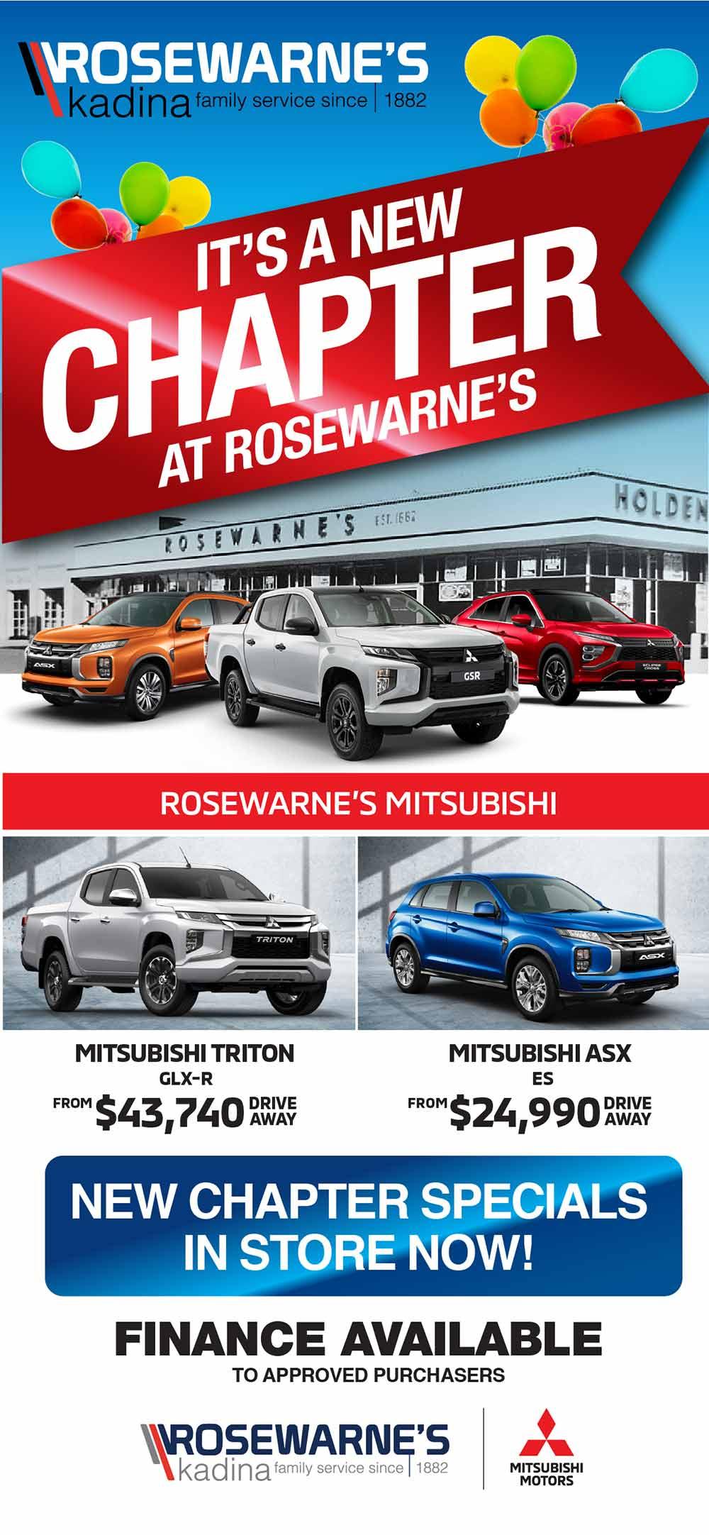 Rosewarnes Mitsubishi | It's A New Chapter At Rosewarnes Special