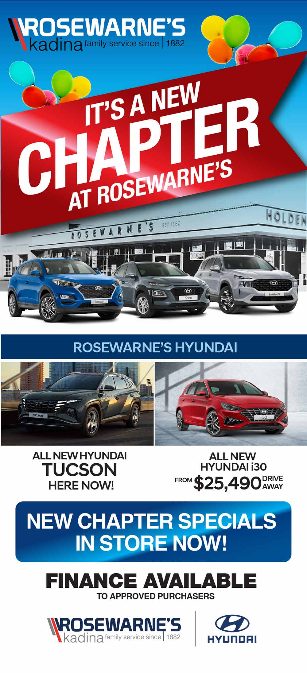 Rosewarne's Hyundai   It's A New Chapter At Rosewarne's - Special
