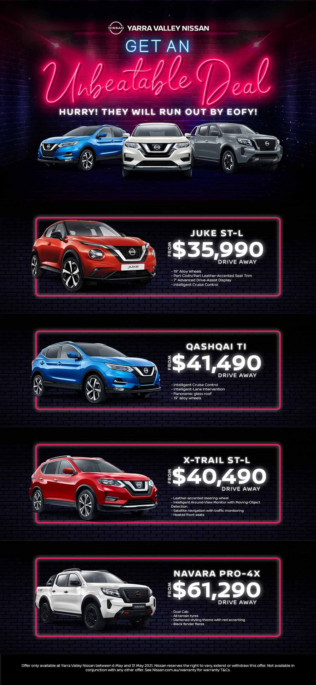 Yarra Valley Nissan   Unbeatable Deal!
