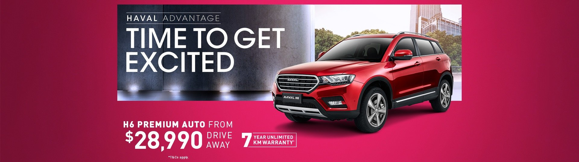 Haval H6 from $28,990 driveaway
