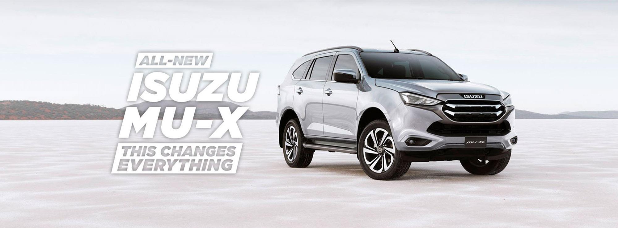 Isuzu UTE new MU-X homepage banner_May21 An
