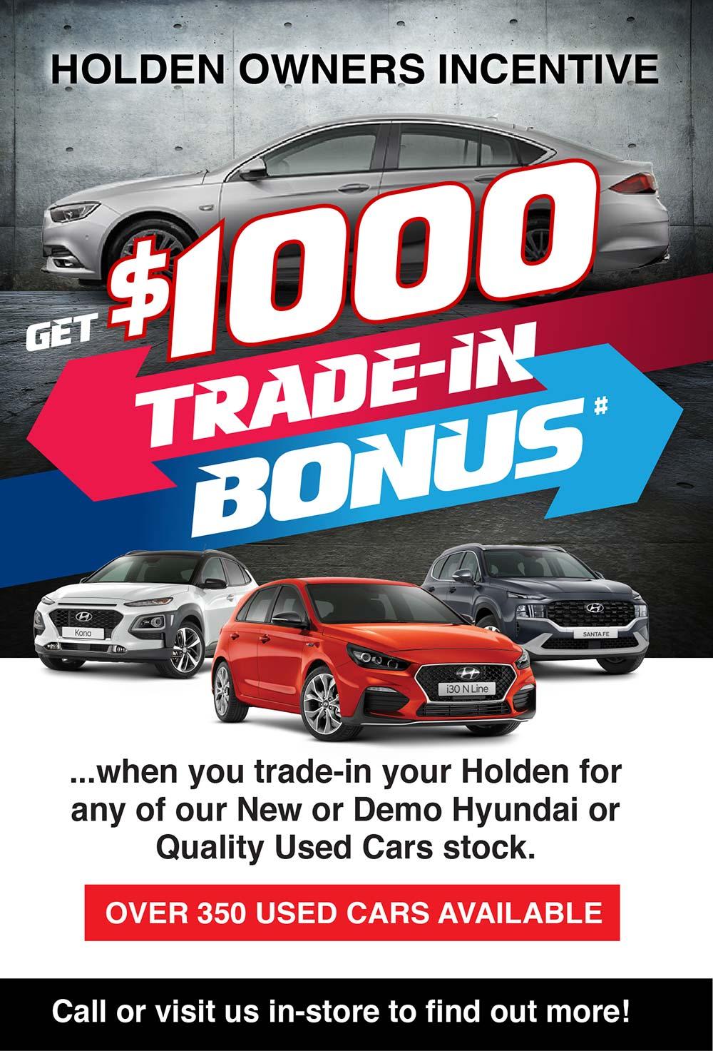 Steinborner Hyundai Barossa | Holden Owners Incentive Special Offer