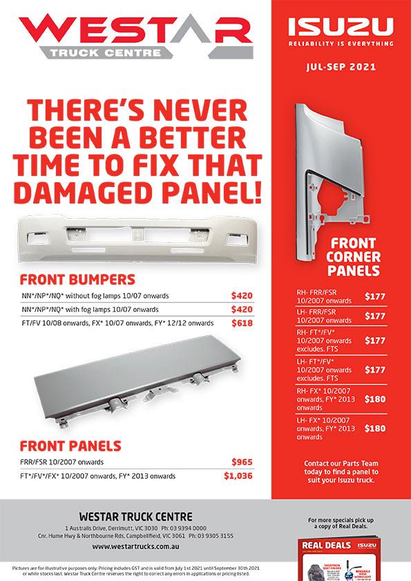 Westar - Genuine Panels Specials