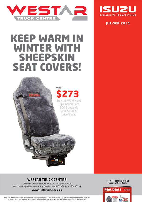 Westar - Sheepskin Seat Covers Specials