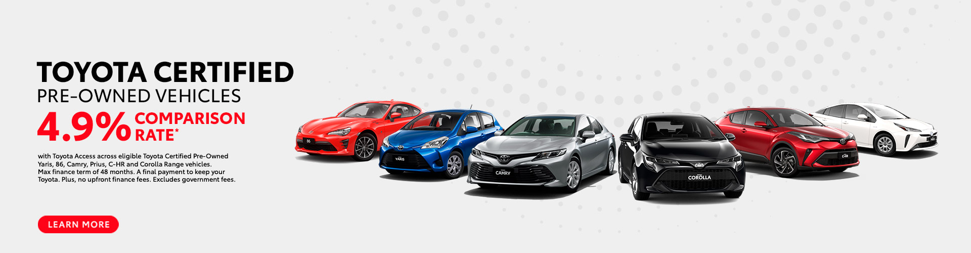Toyota Certified Pre-Owned Vehicles Offer