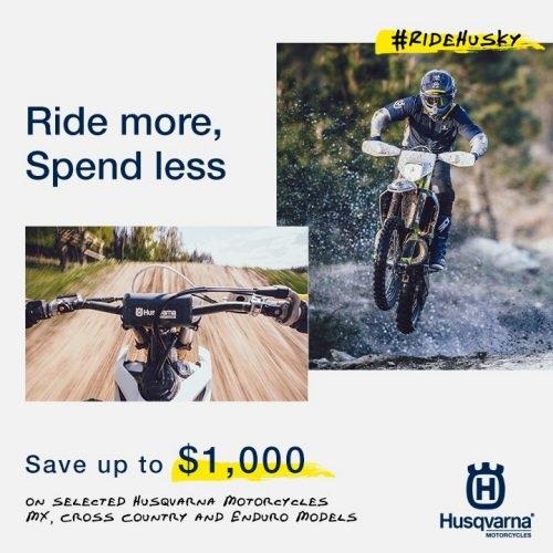 Husqvarna MY21 Ride More Spend Less