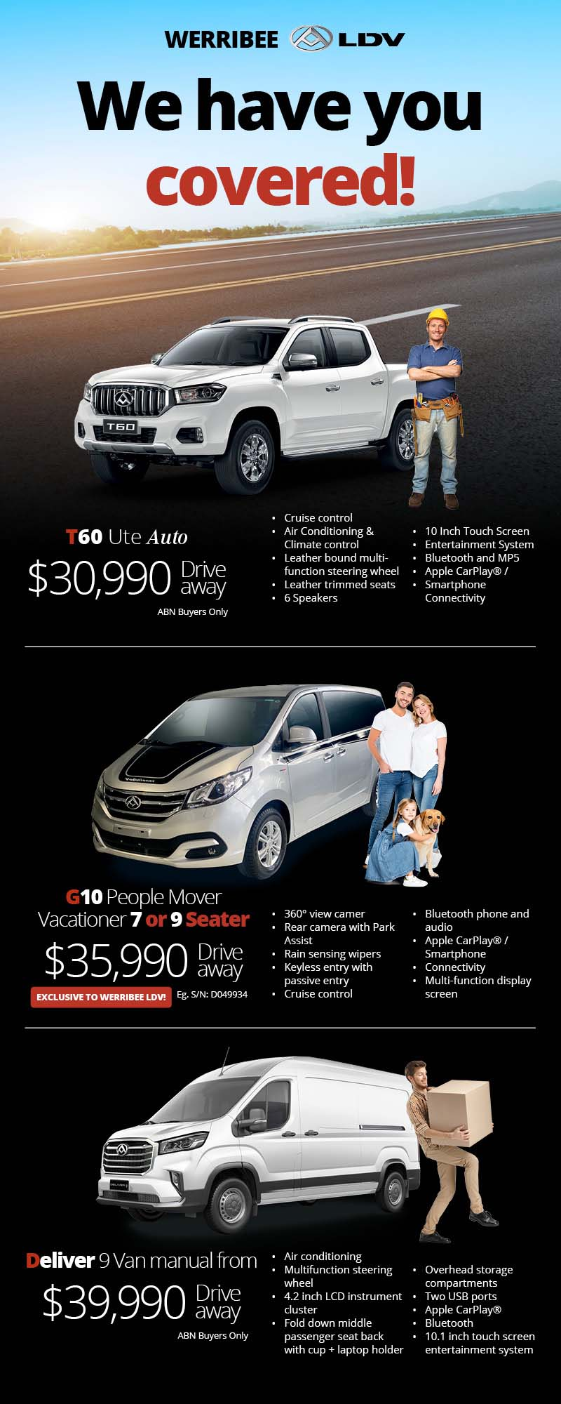 Werribee LDV - We Have You Covered!