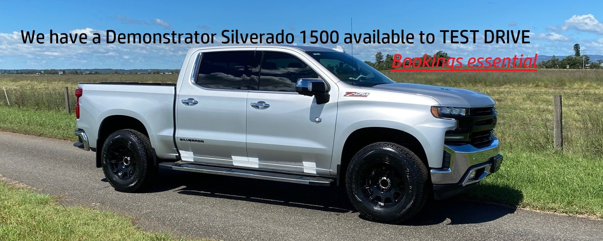 We have a Silverado 1500 to Test Drive