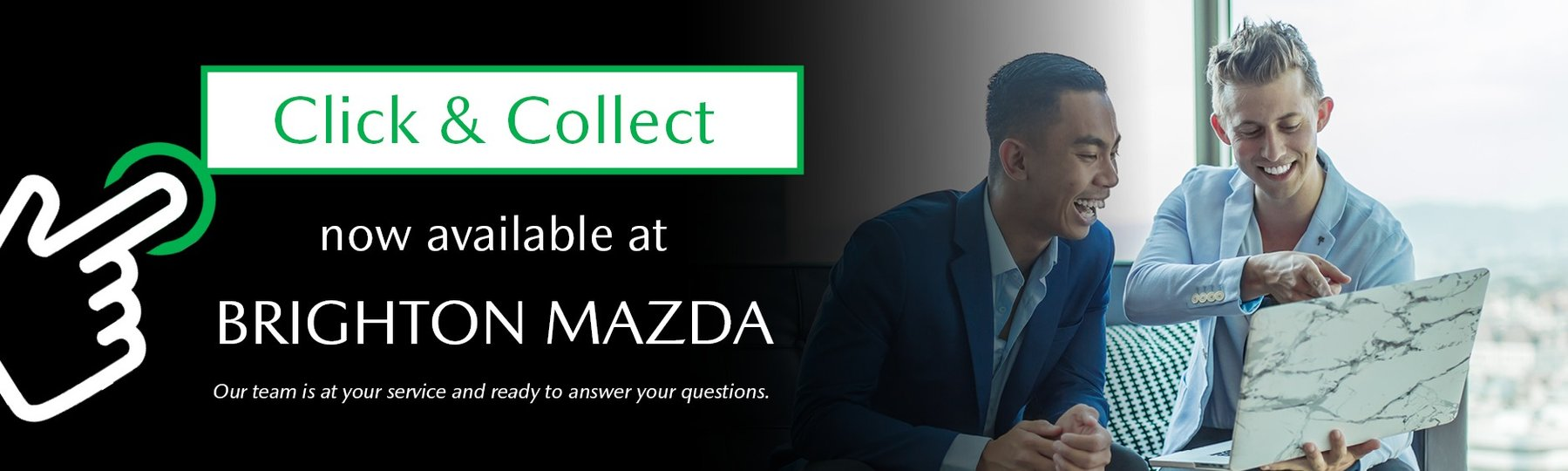 Click & Collect Available at Brighton Mazda