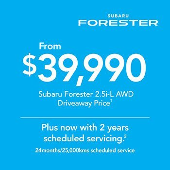 2019 Plate Clearance - Forester 2.5i-L AWD Small Image