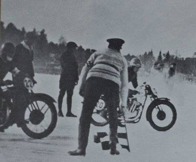 Husqvarna ice Racing 1935 Off Road Dirt Racing Vintage Historical image