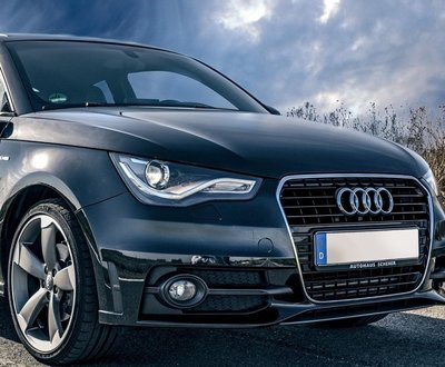 Black Audi car on the road image