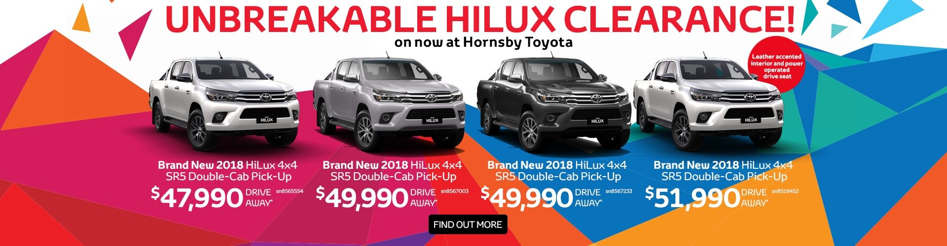 Hilux Clearance