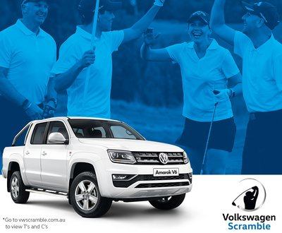 Amarok with golfers in the background image