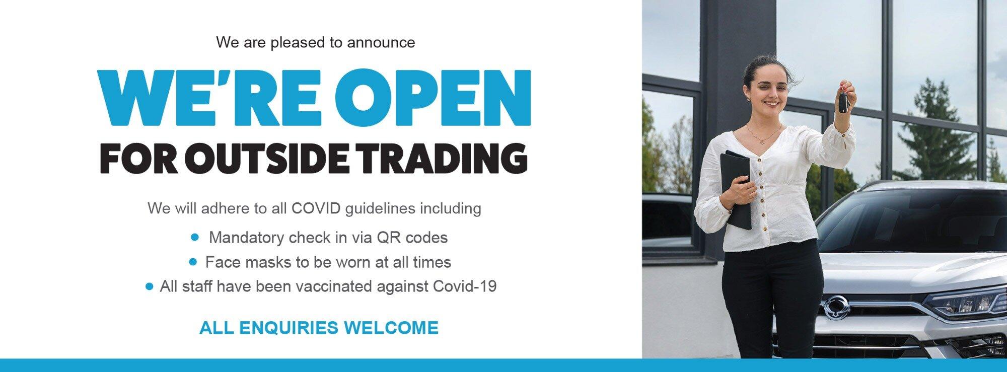 Open for outside trading