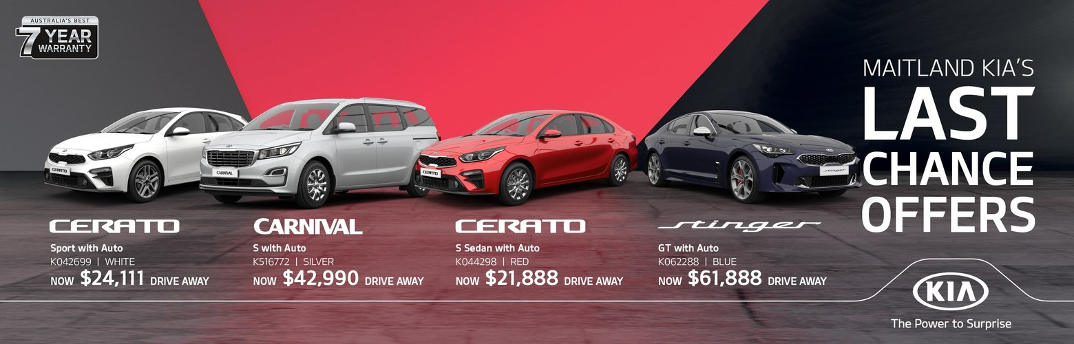 Maitland Kia Last Chance Offers