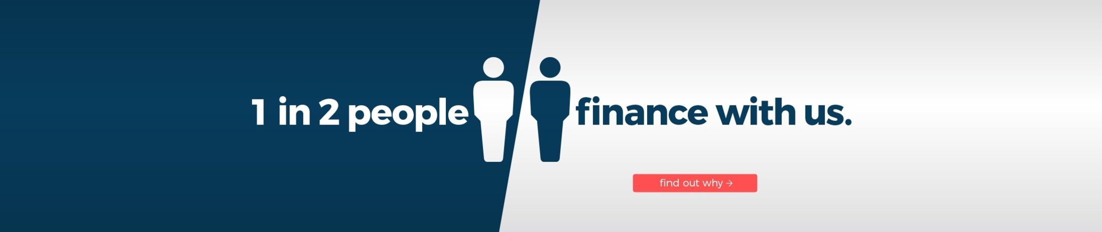 1 in 2 people finance with us