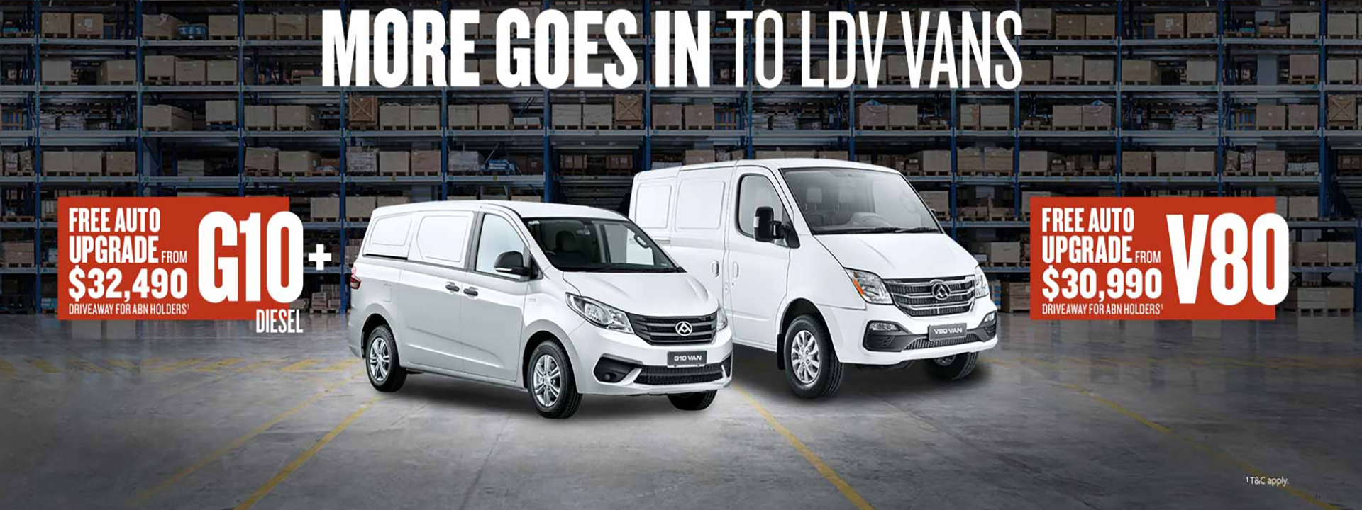 more goes into LDV Vans