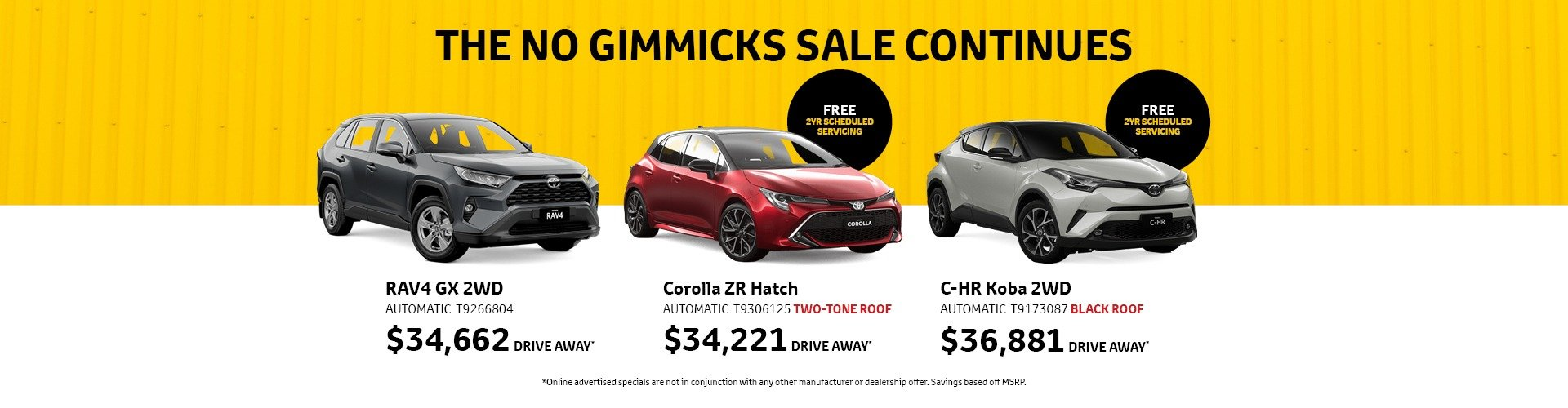 Cardiff Toyota No Gimmicks Sale Continues