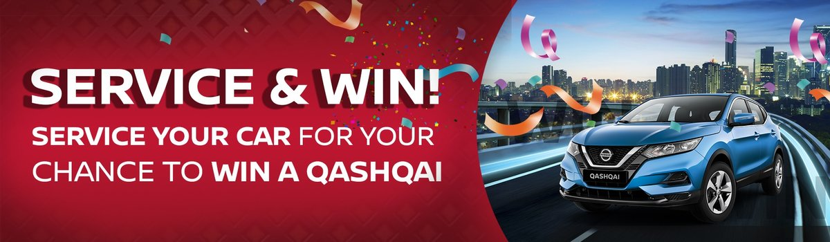 SERVICE YOUR CAR AT CKD NISSAN CHATSWOOD FOR YOUR CHANCE TO WIN A QASHQAI Large Image