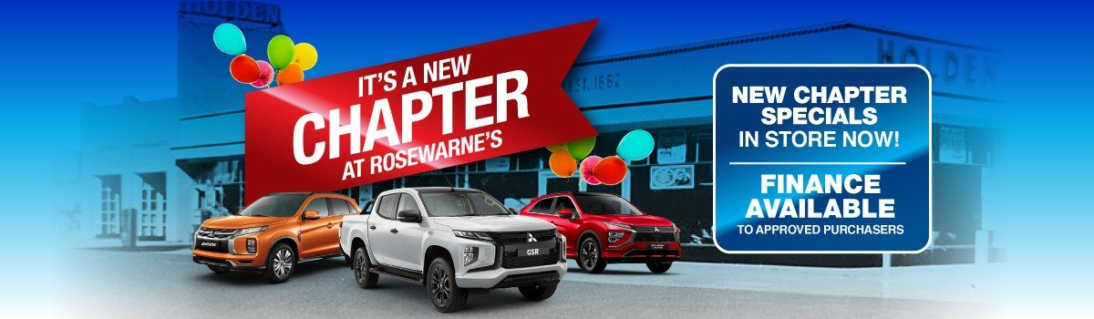 Rosewarne's Mitsubishi | It's A New Chapter At Rosewarne's Large Image