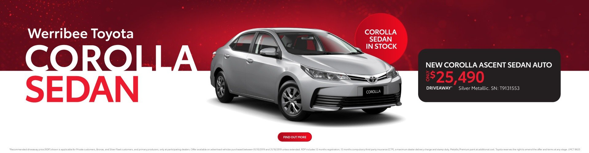 Werribee Toyota - Corolla Sedan