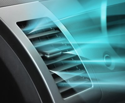 Cool air blowing out a car's air-conditioning vent image