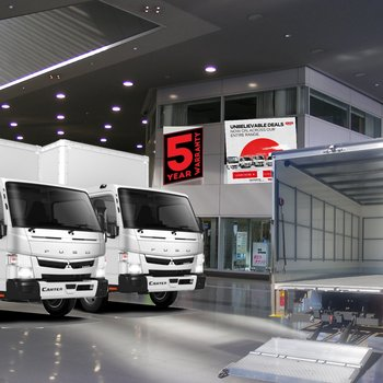 Fuso Canter 515 WideCab AMT Van Body & 600kg Loader. Incredibly From $196p/w**+ ORC Small Image