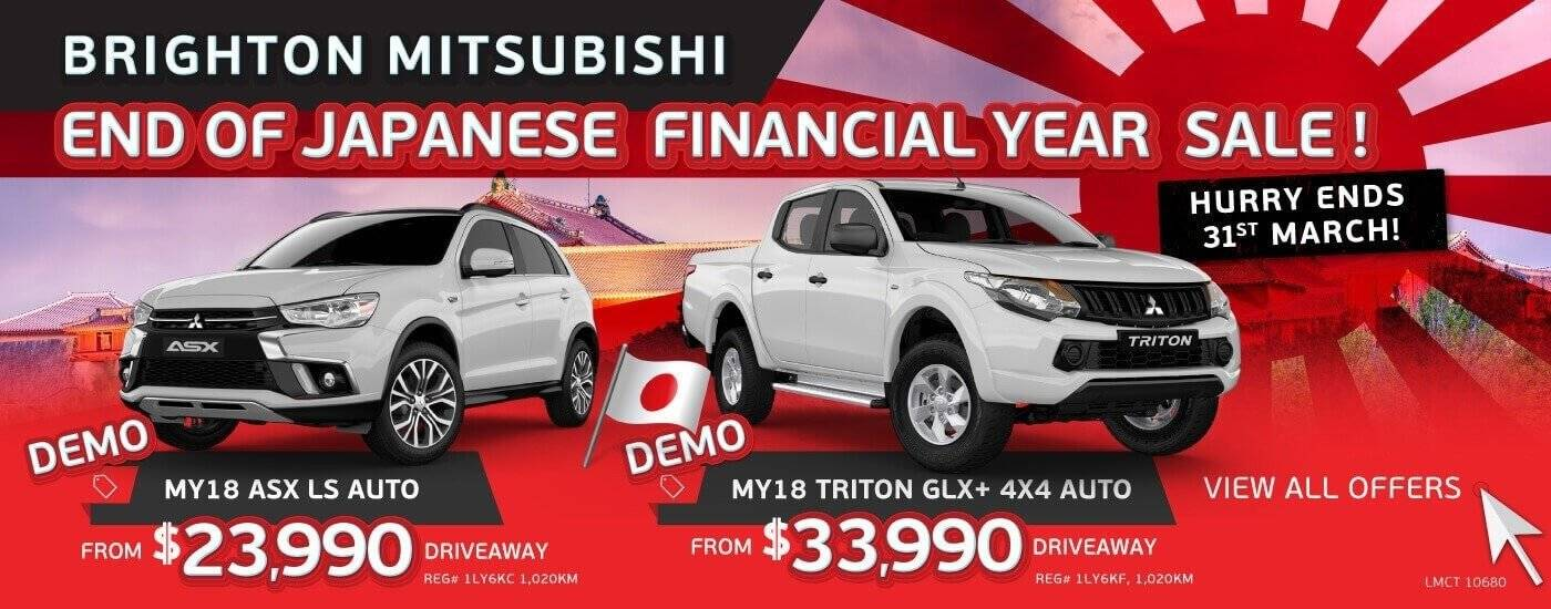 End of Japanese Financial Year Sale | Brighton Mitsubishi