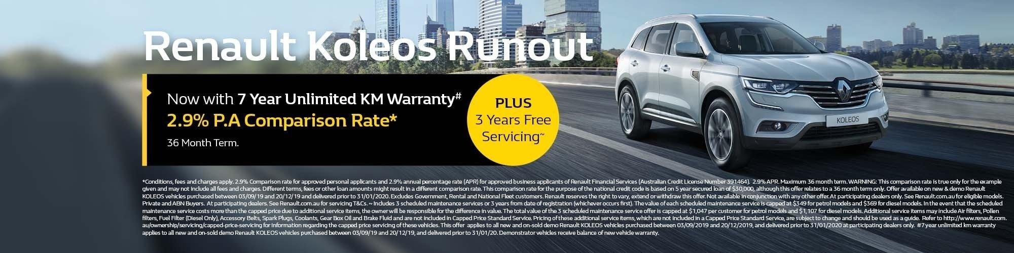 Suttons City Renault Koleos Runout