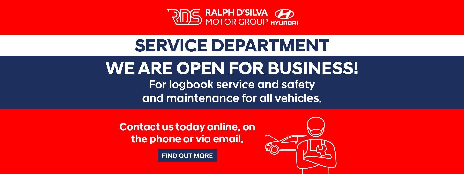Ralph DSilva Hyundai Book Service Banner