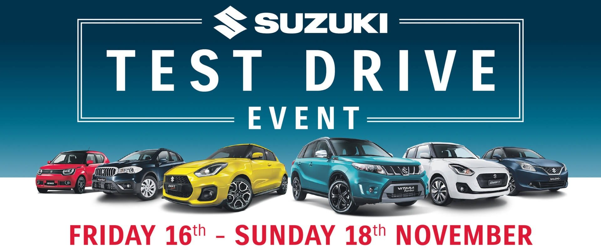 Suzuki Test Drive event