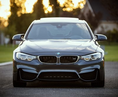 The front of a BMW sports car image