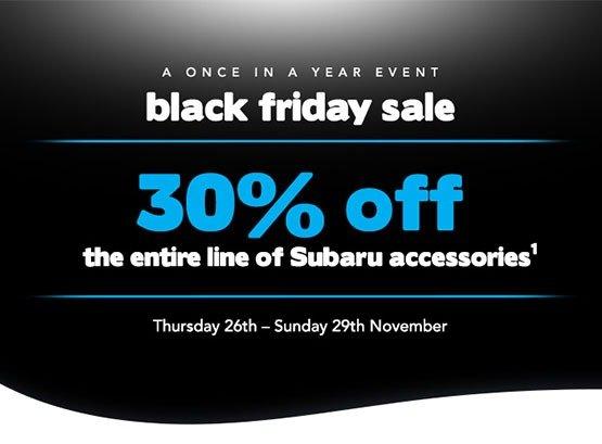 30% off the Entire Line of Subaru Accessories