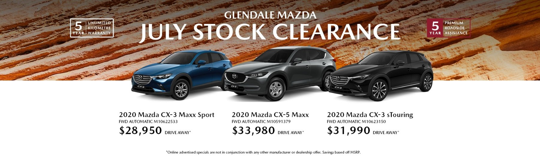 July Stock Clearance